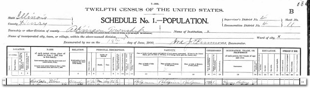 Louis Verbeke 1900 Federal Census