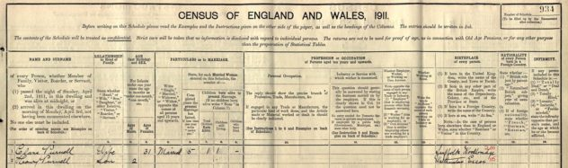 Clara Cook Purnell 1911 Census_prepped