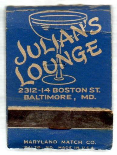 Julians Lounge Matchbook